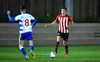 SOUTHAMPTON, ENGLAND - MARCH 01: Alfie Jones (right) during the PL2 match between Southampton FC and Reading FC pictured at Staplewood Complex on March 01, 2019 in Southampton, England. (Photo by James Bridle - Southampton FC/Southampton FC via Getty Images)