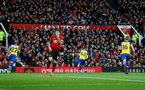 MANCHESTER, ENGLAND - MARCH 02: Yan Valery of Southampton wheels away after scoring during the Premier League match between Manchester United and Southampton FC at Old Trafford on March 02, 2019 in Manchester, United Kingdom. (Photo by Matt Watson/Southampton FC via Getty Images)