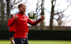 SOUTHAMPTON, ENGLAND - MARCH 07:  Josh Sims during a Southampton FC training session pictured at Staplewood Complex on March 07, 2019 in Southampton, England. (Photo by James Bridle - Southampton FC/Southampton FC via Getty Images)
