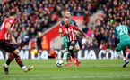 SOUTHAMPTON, ENGLAND - MARCH 09: Nathan Redmond during the Premier League match between Southampton FC and Tottenham Hotspur at St Mary's Stadium on March 9, 2019 in Southampton, United Kingdom. (Photo by Chris Moorhouse/Southampton FC via Getty Images)