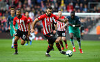 SOUTHAMPTON, ENGLAND - MARCH 09:  LtoR Ryan Bertrand, Charlie Austin of Southampton during the Premier League match between Southampton FC and Tottenham Hotspur at St Mary's Stadium on March 09, 2019 in Southampton, United Kingdom. (Photo by James Bridle - Southampton FC/Southampton FC via Getty Images)