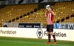 WOLVERHAMPTON, ENGLAND - MARCH 05:  Jake Vokins of Southampton makes a throw in during the PL2 U23's match between Wolverhampton Wanders and Southampton FC at Molineux Stadium in Wolverhampton, England, on March 05, 2019 (Photo by James Bridle - Southampton FC/Southampton FC via Getty Images)