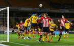 WOLVERHAMPTON, ENGLAND - MARCH 05:  Southampton FC corner during the PL2 U23's match between Wolverhampton Wanders and Southampton FC at Molineux Stadium in Wolverhampton, England, on March 05, 2019 (Photo by James Bridle - Southampton FC/Southampton FC via Getty Images)