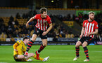 WOLVERHAMPTON, ENGLAND - MARCH 05:  Sam Gallagher (left) during the PL2 U23's match between Wolverhampton Wanders and Southampton FC at Molineux Stadium in Wolverhampton, England, on March 05, 2019 (Photo by James Bridle - Southampton FC/Southampton FC via Getty Images)