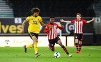 WOLVERHAMPTON, ENGLAND - MARCH 05:  Nathan Tella (middle) during the PL2 U23's match between Wolverhampton Wanders and Southampton FC at Molineux Stadium in Wolverhampton, England, on March 05, 2019 (Photo by James Bridle - Southampton FC/Southampton FC via Getty Images)