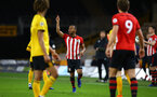 WOLVERHAMPTON, ENGLAND - MARCH 05:  Tyreke Johnson (middle) during the PL2 U23's match between Wolverhampton Wanders and Southampton FC at Molineux Stadium in Wolverhampton, England, on March 05, 2019 (Photo by James Bridle - Southampton FC/Southampton FC via Getty Images)