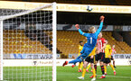 WOLVERHAMPTON, ENGLAND - MARCH 05:  Tom O'Connor  near miss uring the PL2 U23's match between Wolverhampton Wanders and Southampton FC at Molineux Stadium in Wolverhampton, England, on March 05, 2019 (Photo by James Bridle - Southampton FC/Southampton FC via Getty Images)