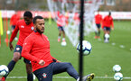 SOUTHAMPTON, ENGLAND - MARCH 13: Ryan Bertrand during a Southampton FC training session at Staplewood Complex on March 18, 2019 in Southampton, England. (Photo by James Bridle - Southampton FC/Southampton FC via Getty Images)