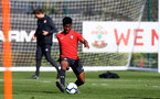 SOUTHAMPTON, ENGLAND - MARCH 27: Nathan Tella during a Southampton FC training session at the Staplewood Campus on March 27, 2019 in Southampton, England. (Photo by Matt Watson/Southampton FC via Getty Images)
