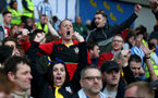 BRIGHTON, ENGLAND - MARCH 30: Fans of Southampton during the Premier League match between Brighton & Hove Albion and Southampton FC at American Express Community Stadium on March 30, 2019 in Brighton, United Kingdom. (Photo by Matt Watson/Southampton FC via Getty Images)