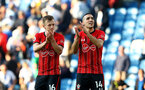 BRIGHTON, ENGLAND - MARCH 30: James Ward-Prowse(L) and Oriol Romeu of Southampton during the Premier League match between Brighton & Hove Albion and Southampton FC at American Express Community Stadium on March 30, 2019 in Brighton, United Kingdom. (Photo by Matt Watson/Southampton FC via Getty Images)