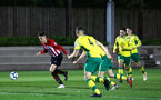 SOUTHAMPTON, ENGLAND - APRIL 05:  Will Smallbone scores (left) during the U23's PL2 match between Southampton FC and Norwich City pictured at Staplewood Complex on April 05, 2019 in Southampton, England. (Photo by James Bridle - Southampton FC/Southampton FC via Getty Images)