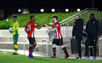 SOUTHAMPTON, ENGLAND - APRIL 05:  Will Ferry comes on, Tyreke Johnson off during the U23's PL2 match between Southampton FC and Norwich City pictured at Staplewood Complex on April 05, 2019 in Southampton, England. (Photo by James Bridle - Southampton FC/Southampton FC via Getty Images)