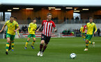 SOUTHAMPTON, ENGLAND - APRIL 05:  Callum Slattery (middle) during the U23's PL2 match between Southampton FC and Norwich City pictured at Staplewood Complex on April 05, 2019 in Southampton, England. (Photo by James Bridle - Southampton FC/Southampton FC via Getty Images)