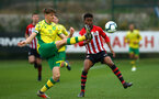 SOUTHAMPTON, ENGLAND - APRIL 05:  Nathan Tella (right) during the U23's PL2 match between Southampton FC and Norwich City pictured at Staplewood Complex on April 05, 2019 in Southampton, England. (Photo by James Bridle - Southampton FC/Southampton FC via Getty Images)