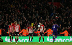 SOUTHAMPTON, ENGLAND - APRIL 05: Pierre-Emile Hojbjerg during the Premier League match between Southampton FC and Liverpool FC at St Mary's Stadium on April 5th, 2019 in Southampton, United Kingdom. (Photo by Chris Moorhouse/Southampton FC via Getty Images)