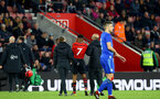 SOUTHAMPTON, ENGLAND - APRIL 10: Nathan Tella is taken off after a injury during the International PL Cup match between Southampton FC and Dinamo Zagreb, pictured at St. Mary's Stadium on April 10, 2019 in Southampton, England. (Photo by James Bridle - Southampton FC/Southampton FC via Getty Images) (Photo by James Bridle - Southampton FC/Southampton FC via Getty Images)