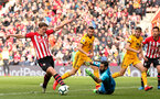 SOUTHAMPTON, ENGLAND - APRIL 13: Jannik Vestergaard during the Premier League match between Southampton FC and Wolverhampton Wanderers at St Mary's Stadium on April 13, 2019 in Southampton, United Kingdom. (Photo by Chris Moorhouse/Southampton FC via Getty Images)
