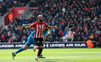 SOUTHAMPTON, ENGLAND - APRIL 13: Nathan Redmond's second goal celebration during the Premier League match between Southampton FC and Wolverhampton Wanderers at St Mary's Stadium on April 13, 2019 in Southampton, United Kingdom. (Photo by Chris Moorhouse/Southampton FC via Getty Images)