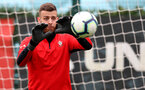 SOUTHAMPTON, ENGLAND - APRIL 16: Angus Gunn during a Southampton FC training session at the Staplewood Campus on April 16, 2019 in Southampton, England. (Photo by Matt Watson/Southampton FC via Getty Images)