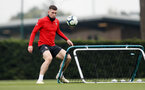 SOUTHAMPTON, ENGLAND - APRIL 16: Pierre-Emile Hojbjerg during a Southampton FC training session at the Staplewood Campus on April 16, 2019 in Southampton, England. (Photo by Matt Watson/Southampton FC via Getty Images)