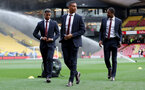 WATFORD, ENGLAND - APRIL 23: Yan Valery(centre) of Southampton ahead of the Premier League match between Watford FC and Southampton FC at Vicarage Road on April 23, 2019 in Watford, United Kingdom. (Photo by Matt Watson/Southampton FC via Getty Images)