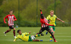 NORWICH, ENGLAND - APRIL 27: Lucas Defice (right) during a U18 Premier League match between Norwich City FC and Southampton FC pictured at Colney Training Ground on April 27, 2019 in Norwich, England. (Photo by James Bridle - Southampton FC/Southampton FC via Getty Images)