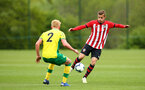 NORWICH, ENGLAND - APRIL 27: Kornelius Hansen (right) during a U18 Premier League match between Norwich City FC and Southampton FC pictured at Colney Training Ground on April 27, 2019 in Norwich, England. (Photo by James Bridle - Southampton FC/Southampton FC via Getty Images)