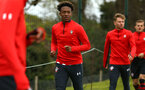 NORWICH, ENGLAND - APRIL 27: Rio Glean (middle) during a U18 Premier League match between Norwich City FC and Southampton FC pictured at Colney Training Ground on April 27, 2019 in Norwich, England. (Photo by James Bridle - Southampton FC/Southampton FC via Getty Images)