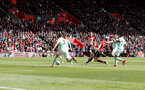 SOUTHAMPTON, ENGLAND - APRIL 27: Shane Long of Southampton opens the scoring during the Premier League match between Southampton FC and AFC Bournemouth at St Mary's Stadium on April 27, 2019 in Southampton, United Kingdom. (Photo by Matt Watson/Southampton FC via Getty Images)