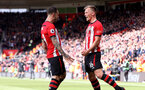 SOUTHAMPTON, ENGLAND - APRIL 27: Danny Ings(L) and James Ward-Prowse of Southampton during the Premier League match between Southampton FC and AFC Bournemouth at St Mary's Stadium on April 27, 2019 in Southampton, United Kingdom. (Photo by Matt Watson/Southampton FC via Getty Images)