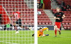 SOUTHAMPTON, ENGLAND - APRIL 29: Kayne Ramsay  is denied a goal off the line ((left) during the Premier League 2 match between Southampton FC and Sunderland pictured at St Mary's Stadium on April 29, 2019 in Southampton, England. (Photo by James Bridle - Southampton FC/Southampton FC via Getty Images)