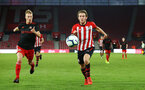SOUTHAMPTON, ENGLAND - APRIL 29: Jake Vokins  (right) during the Premier League 2 match between Southampton FC and Sunderland pictured at St Mary's Stadium on April 29, 2019 in Southampton, England. (Photo by James Bridle - Southampton FC/Southampton FC via Getty Images)
