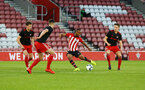 SOUTHAMPTON, ENGLAND - APRIL 29: Tyreke Johnson (middle)  during the Premier League 2 match between Southampton FC and Sunderland pictured at St Mary's Stadium on April 29, 2019 in Southampton, England. (Photo by James Bridle - Southampton FC/Southampton FC via Getty Images)