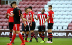 SOUTHAMPTON, ENGLAND - APRIL 29: Tyreke Johnson scores and celebrates scores (middle) during the Premier League 2 match between Southampton FC and Sunderland pictured at St Mary's Stadium on April 29, 2019 in Southampton, England. (Photo by James Bridle - Southampton FC/Southampton FC via Getty Images)