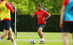 SOUTHAMPTON, ENGLAND - MAY 02:  Danny Ings (middle) during a Southampton FC training session pictured at Staplewood Complex on May 2, 2019 in Southampton, England. (Photo by James Bridle - Southampton FC/Southampton FC via Getty Images)