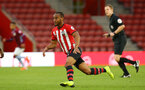 SOUTHAMPTON, ENGLAND - MAY 03: Tyreke Johnson (left) during the U23s PL2 Play off Semi-Final between Southampton FC and Aston Villa FC pictured at St Mary's Stadium on May 03, 2019 in Southampton, England. (Photo by James Bridle - Southampton FC/Southampton FC via Getty Images)