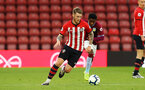 SOUTHAMPTON, ENGLAND - MAY 03: Callum Slattery (left) during the U23s PL2 Play off Semi-Final between Southampton FC and Aston Villa FC pictured at St Mary's Stadium on May 03, 2019 in Southampton, England. (Photo by James Bridle - Southampton FC/Southampton FC via Getty Images)