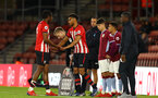 SOUTHAMPTON, ENGLAND - MAY 03: LtoR Dan Nlundulu , Marcus Barnes during the U23s PL2 Play off Semi-Final between Southampton FC and Aston Villa FC pictured at St Mary's Stadium on May 03, 2019 in Southampton, England. (Photo by James Bridle - Southampton FC/Southampton FC via Getty Images)