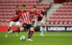 SOUTHAMPTON, ENGLAND - MAY 03: Will Smallbone takes a penalty for Southampton FC during the U23s PL2 Play off Semi-Final between Southampton FC and Aston Villa FC pictured at St Mary's Stadium on May 03, 2019 in Southampton, England. (Photo by James Bridle - Southampton FC/Southampton FC via Getty Images)