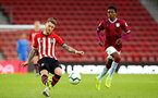 SOUTHAMPTON, ENGLAND - MAY 03: Callum Slattery of Southampton (left) during the U23s PL2 Play off Semi-Final between Southampton FC and Aston Villa FC pictured at St Mary's Stadium on May 03, 2019 in Southampton, England. (Photo by James Bridle - Southampton FC/Southampton FC via Getty Images)