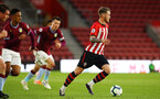 SOUTHAMPTON, ENGLAND - MAY 03: Callum Slattery of Southampton FC (Right) during the U23s PL2 Play off Semi-Final between Southampton FC and Aston Villa FC pictured at St Mary's Stadium on May 03, 2019 in Southampton, England. (Photo by James Bridle - Southampton FC/Southampton FC via Getty Images)