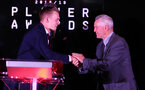 James Ward-Prowse and Terry Paine during the 2018/19 Southampton FC Player Awards night, at St Mary's Stadium, Southampton, 7th May 2019