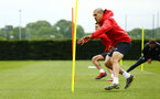SOUTHAMPTON, ENGLAND - MAY 09: Oriol Romeu (right) during a Southampton FC training session pictured at Staplewood Training Ground on May 9, 2019 in Southampton, England. (Photo by James Bridle - Southampton FC/Southampton FC via Getty Images)