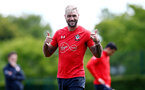 SOUTHAMPTON, ENGLAND - MAY 10: Charlie Austin during a Southampton FC training session at the Staplewood Campus on May 10, 2019 in Southampton, England. (Photo by Matt Watson/Southampton FC via Getty Images)