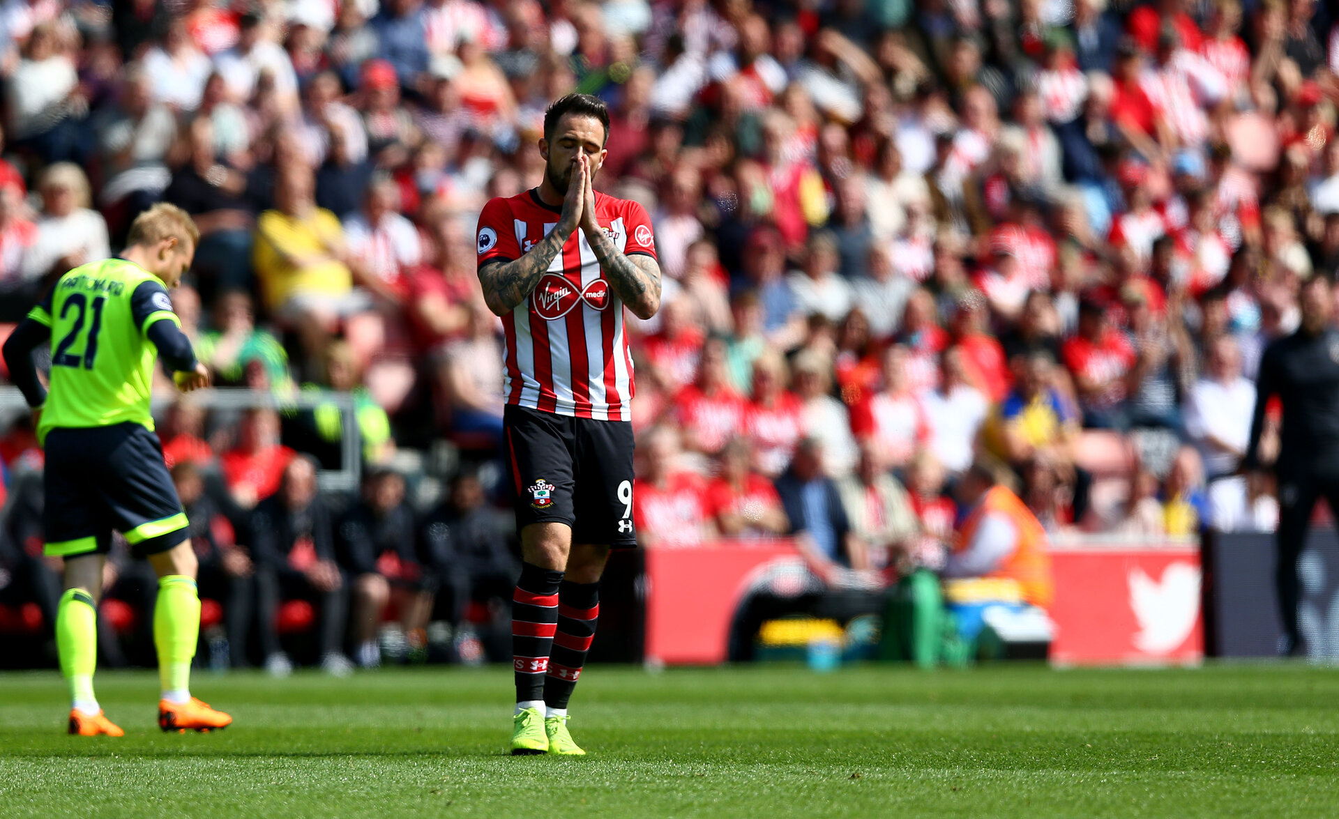 SOUTHAMPTON, ENGLAND - MAY 12: Danny Ings of Southampton during the Premier League match between Southampton FC and Huddersfield Town at St Mary's Stadium on May 12, 2019 in Southampton, United Kingdom. (Photo by Matt Watson/Southampton FC via Getty Images)