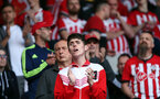 SOUTHAMPTON, ENGLAND - MAY 12: Saints fans during the Premier League match between Southampton FC and Huddersfield Town at St Mary's Stadium on May 12, 2019 in Southampton, United Kingdom. (Photo by Chris Moorhouse/Southampton FC)