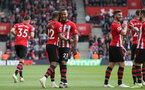 SOUTHAMPTON, ENGLAND - MAY 12: Nathan Redmond goal celebration during the Premier League match between Southampton FC and Huddersfield Town at St Mary's Stadium on May 12, 2019 in Southampton, United Kingdom. (Photo by Chris Moorhouse/Southampton FC)