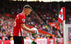 SOUTHAMPTON, ENGLAND - MAY 12: James Ward-Prowse takes a corner kick during the Premier League match between Southampton FC and Huddersfield Town at St Mary's Stadium on May 12, 2019 in Southampton, United Kingdom. (Photo by James Bridle - Southampton FC/Southampton FC via Getty Images)