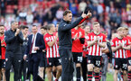 SOUTHAMPTON, ENGLAND - MAY 12: Ralph Hasenhuttl. Lap of appreciation after the Premier League match between Southampton FC and Huddersfield Town at St Mary's Stadium on May 12, 2019 in Southampton, United Kingdom. (Photo by Chris Moorhouse/Southampton FC)